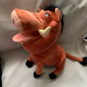 Lion king plush of pumbaa from Disney parks